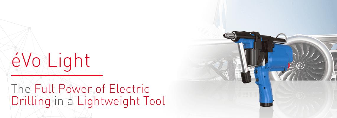 航空宇宙産業向け電動高性能フィードドリルユニット: éVo Light