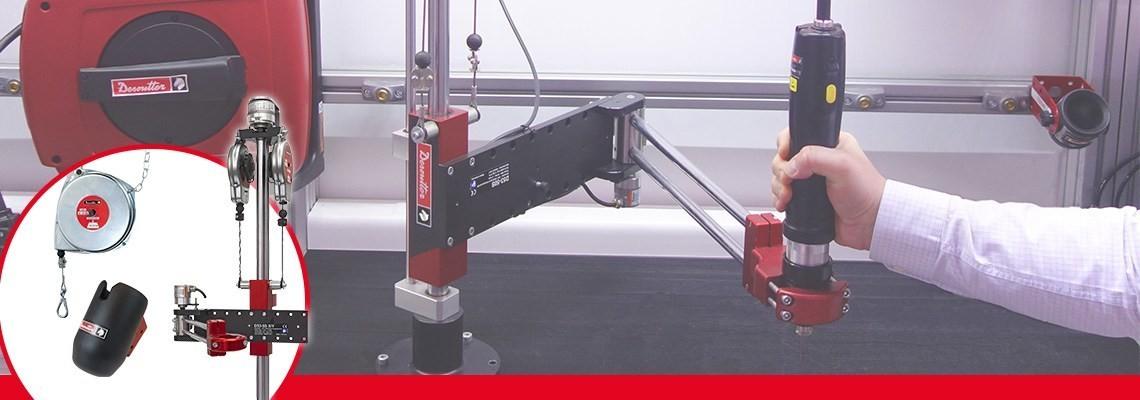 お使いの産業用空気動式工具の性能を最適化する産業用エアーライン付属品をご覧ください:FRL、ホースリール、ホース...見積をご依頼ください!