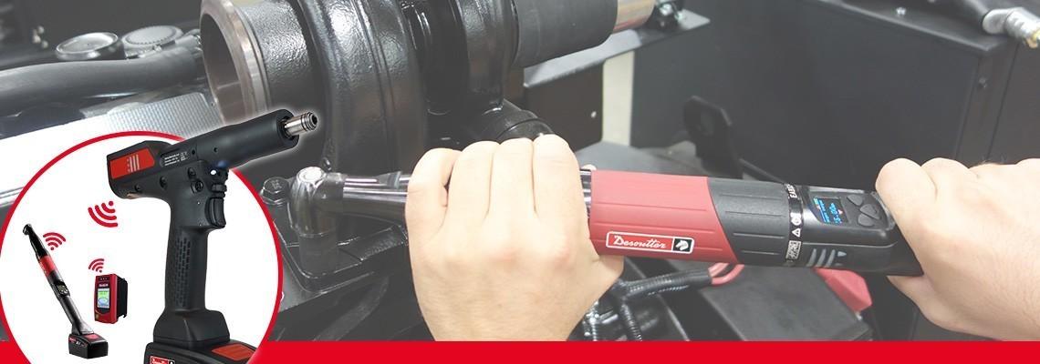 Desoutter Industrial ToolsのEABCom - EPBCom充電式ナットランナーをご覧ください。4つのトランスデューサ内蔵充電式工具を1つのビジョンコントローラに接続し、100%のトレーサビリティを確保してください。