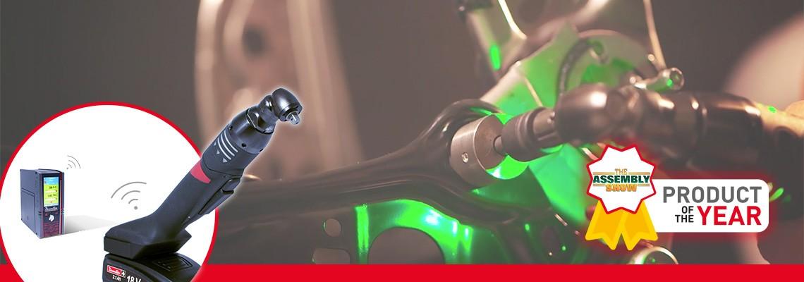新製品のEABSシリーズは、 片手で楽に締付操作ができるバッテリー式のナットランナーです。