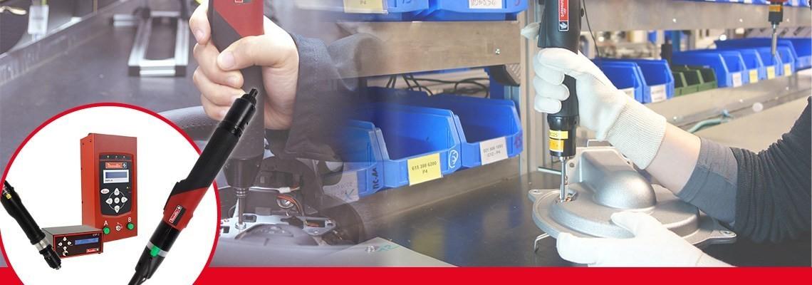 Desoutter Industrialの電動スクリュードライバー製品レンジをご覧ください。パワフルで使いやすい工具です。SLK電動スクリュードライバーおよびSLEハイパワー電動スクリュードライバーの詳細については、弊社までお問い合わせください。