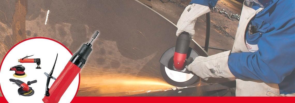 コーンホイール用の空気グラインダーをお探しですか?Desoutter Industrial Toolsは、高性能空気グラインダーを設計しました。デモをご依頼ください!