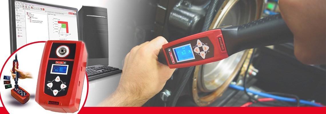 Desoutter Toolsのアルファデジタルトルクテスターでは、スクリュードライバー、トルクレンチ、またはクリックレンチからトルクチェックの結果を監視、収集できます。